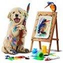 Perrito pintor