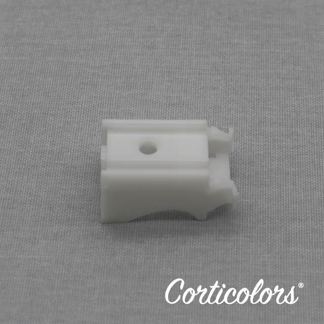 Foto de un soportes para estores de cordón blanco de 8 centímetros